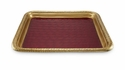 "Julia Knight Florentine 15"" Square Gold Tray - Pomegranage"