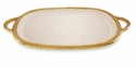 "Julia Knight Florentine 22.5"" Handled Gold Tray - Snow"