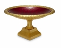 "Julia Knight Florentine 12"" Pedestal Gold Bowl - Pomegranate"
