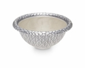 "Julia Knight Florentine 4.25"" Round Silver Bowl - Snow"