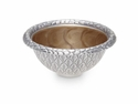 "Julia Knight Florentine 4.25"" Round Silver Bowl - Toffee"
