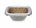 "Julia Knight Florentine 6.25"" Square Silver Bowl - Toffee"