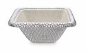 "Julia Knight Florentine 10"" Square Silver Bowl - Snow"