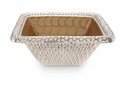 "Julia Knight Florentine 10"" Square Silver Bowl - Toffee"