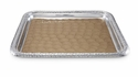 "Julia Knight Florentine 15"" Square Silver Tray - Toffee"