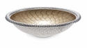 "Julia Knight Florentine 15"" Round Silver Bowl - Toffee"