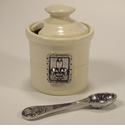 Crosby & Taylor (Tin Woodsman) Whipping Cream Fleur de Lys Petite Salt Pot