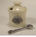 Crosby & Taylor (Tin Woodsman) Whipping Cream Dragonfly Petite Salt Pot