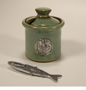 Crosby & Taylor (Tin Woodsman) Pistachio Fish Petite Salt Pot