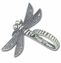 Crosby & Taylor (Tin Woodsman) Pewter Dragonfly Napkin Rings (4)