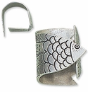 Crosby & Taylor (Tin Woodsman) Pewter Wrapped Fish Napkin Rings (4)