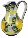 "Skyros Designs Mediterranean Pitcher 8.25"" x 5.5"" - Lemon"