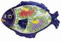 "Skyros Designs Mediterranean Large Fish Platter 18.9"" x 13"" - Fruit"