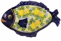 "Skyros Designs Mediterranean Large Fish Platter 18.9"" x 13"" - Lemon"