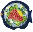 "Skyros Designs Mediterranean Fish Dinner Plate 11.4"" x 10.6"" - Fruit"