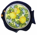 "Skyros Designs Mediterranean Fish Dinner Plate 11.4"" x 10.6"" - Lemon"