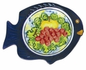 "Skyros Designs Mediterranean Fish Salad Plate 9.6"" x 7.9"" - Fruit"