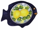 "Skyros Designs Mediterranean Fish Salad Plate 9.6"" x 7.9"" - Lemon"