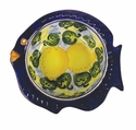 "Skyros Designs Mediterranean Fish Soup Bowl 7.9"" x 7.5"" x 2.2"" - Lemon"