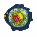 "Skyros Designs Mediterranean Small Fish Bowl 7.1"" x 7.1"" x 1.6"" - Fruit"