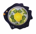 "Skyros Designs Mediterranean Small Fish Bowl 7.1"" x 7.1"" x 1.6"" - Lemon"