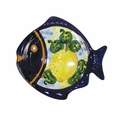 "Skyros Designs Mediterranean Small Fish Plate 6.6"" x 6.1"" - Lemon"
