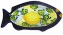 "Skyros Designs Mediterranean Fish Olive Bowl 7.9"" x 4.5"" x 1.8"" - Lemon"