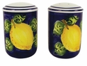 "Skyros Designs Mediterranean Salt & Pepper Set 4"" x 2.5"" - Blue Lemon"