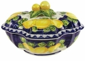 "Skyros Designs Mediterranean Large Tureen 14.5"" x 11.75"" x 8.75"" - Blue Lemon"
