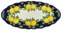"Skyros Designs Mediterranean Large Oval Platter 19"" x 14.5"" - Blue Lemon"