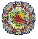 "Skyros Designs Mediterranean Square Dinner Plate 10.75"" x 10.75"" - Fruit"