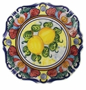 "Skyros Designs Mediterranean Square Dinner Plate 10.75"" x 10.75"" - Lemon"