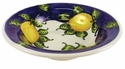 "Skyros Designs Mediterranean Rim Soup 8.75"" x 2"" - Blue Lemon"
