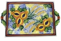 "Skyros Designs Mediterranean Large Handled Tray 16.5"" x 10.75"" - Wheat"