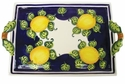 "Skyros Designs Mediterranean Large Handled Tray 16.5"" x 10.75"" - Blue Lemon"