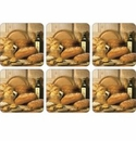 Pimpernel Artisanal Breads Coasters Set of 6
