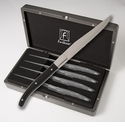 Fortessa Stainless Steel Proven�al Black Handle Steak Knife 4 Piece set in box