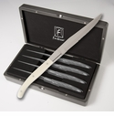 Fortessa Stainless Steel Proven�al Blonde Handle Steak Knife  4 Piece Set in box