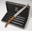 Fortessa Stainless Steel Proven�al Steak Knife (Amber Handle) 4 Piece set in box