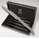 Fortessa Stainless Steel Provencal Serrated Solid handle Steak Knife 4 Piece Boxed Set