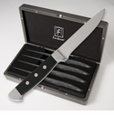 "Fortessa Stainless Steel Vaquero Non-Serrated Steak Knife 10"" 4 Piece Set"