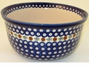 Boleslawiec Polish Pottery Kitchen Mixing Bowl - Design 41A