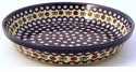 Boleslawiec Polish Pottery Pie Plate - Design 41A