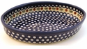 Boleslawiec Polish Pottery Medium Oval Baker - Design 41A