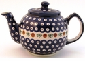 Boleslawiec Polish Pottery Large Teapot - Design 41A