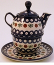 Boleslawiec Polish Pottery Tea for One Teapot - Design 41A