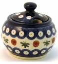Boleslawiec Polish Pottery Sugar Bowl - Design 41A