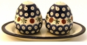 Boleslawiec Polish Pottery Salt & Pepper Set - Design 41A
