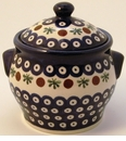 Boleslawiec Polish Pottery Small Canister - Design 41A