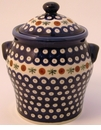 Boleslawiec Polish Pottery Large Canister - Design 41A
